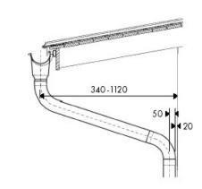Konstruktionsskizze eines Dachüberstands