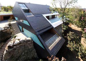 Einfamilienhaus auf Steinbruchkante