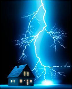 Blitz-Ableitung am Dach