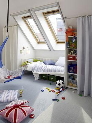 Das Kinderzimmer unter dem Dach wird mit der richtigen Planung zum perfekten Schlaf, Lern- und Spielraum