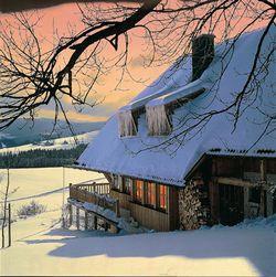 Schneemassen auf dem Dach