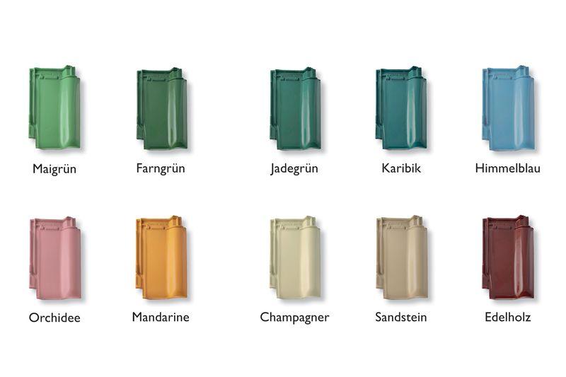 Dachziegel farben  Wunschfarbe für das Dach - Dachziegel - Eindeckung