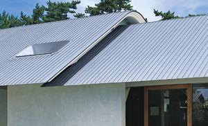 Ein Satteldach aus Titanzink