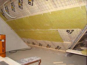 Dachgeschoss in der Dämmphase