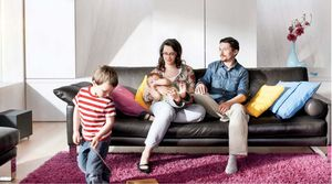 Testfamilie des Velux Sunlighthouse
