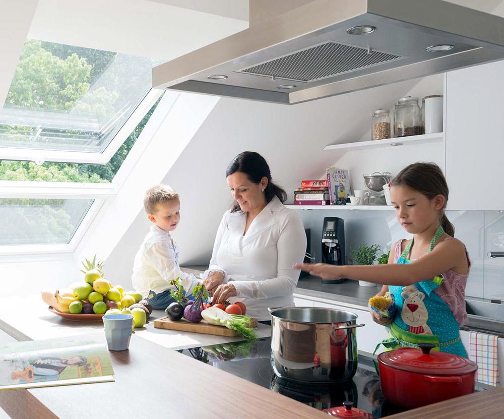 Dachausbau Küche