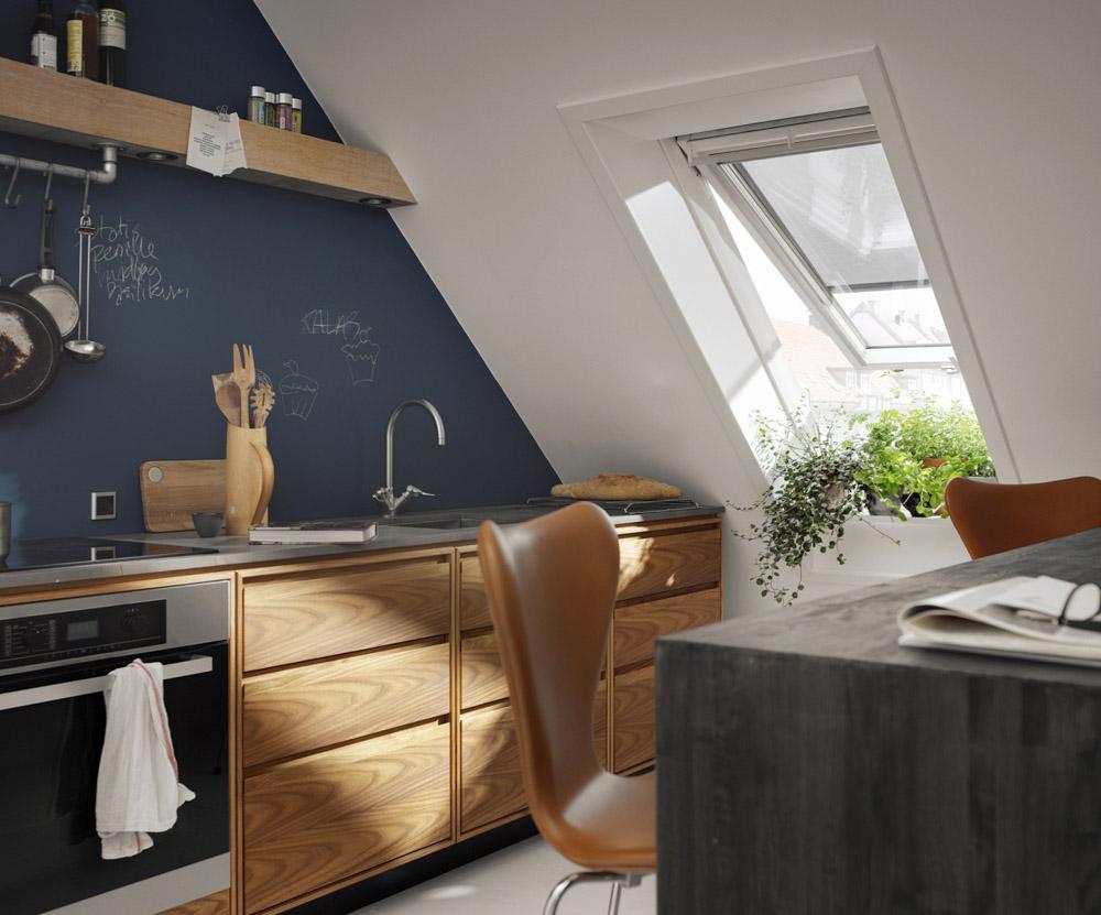 Genießen auf hohem Niveau – die Küche unterm Dach
