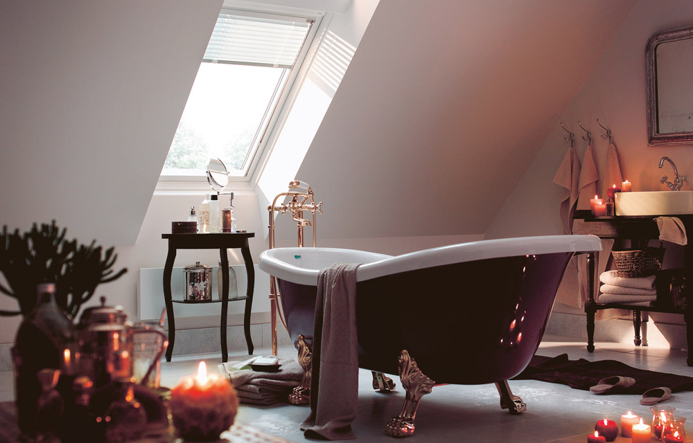 Romantische Badefreuden