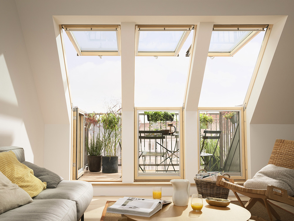 Super Schnelle Wege zum eigenen Balkon im Dachgeschoss IC71