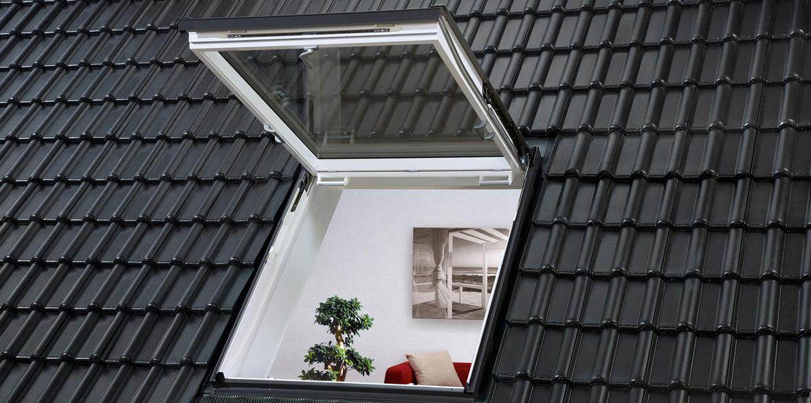 Sicherer Ausstieg auf das Dach