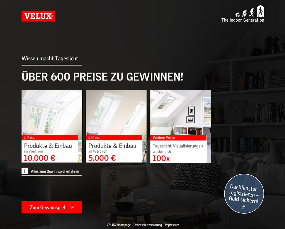VELUX verlost Licht-Lösungen im Wert von 15.000 Euro