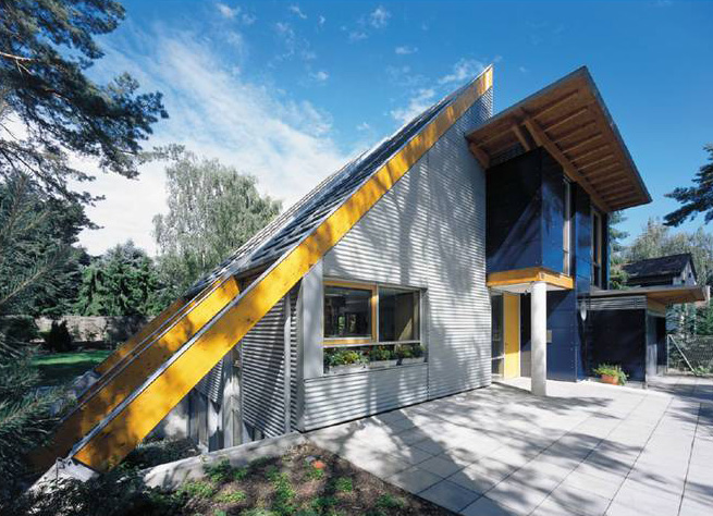Die Form des Daches prägt das Profil des Hauses