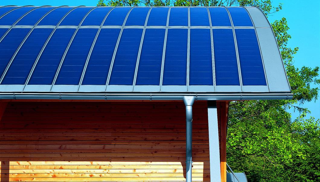 Solarsystem auf Runddach