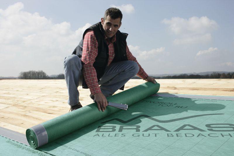 Dämmstoffe: Divoroll Top RU  - Die Unterdeckbahn für regensichere Unterdächer