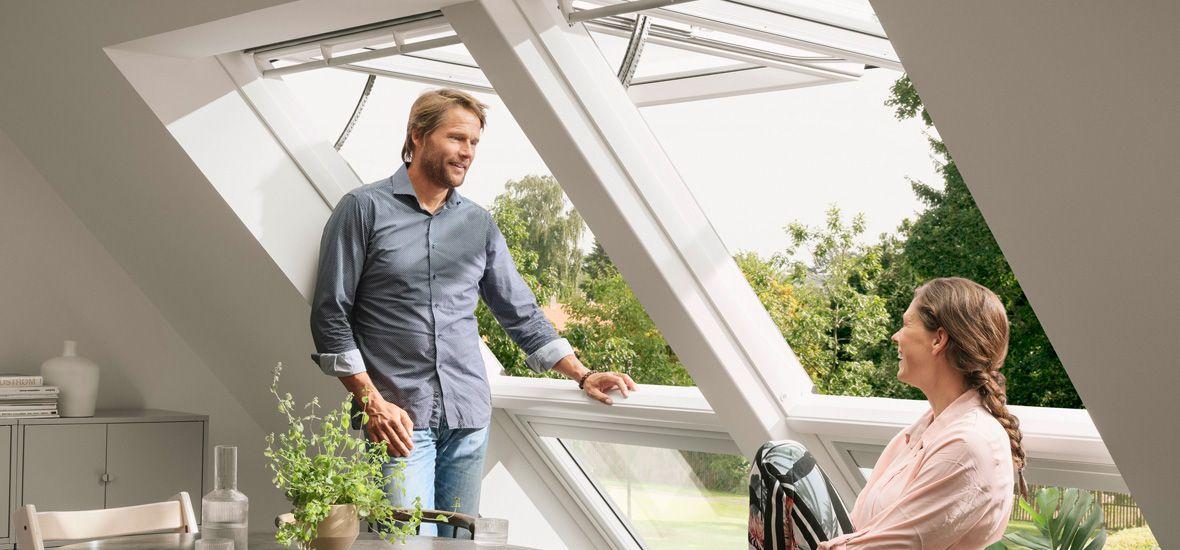 Panorama-Ausblick fürs Dachgeschoss