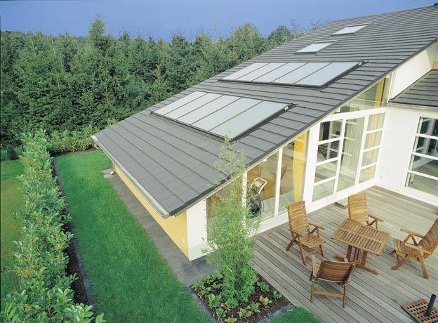 Energiegewinnung auf einem Steildach