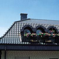 Dach und Rundgauben mit Achat 14 (Hanseat) Anthrazit