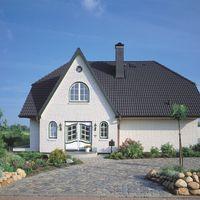 Doppel-S Granit auf Einfamilienhaus