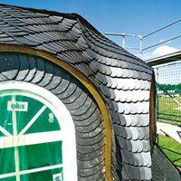 Dachgaube mit Schieferdeckung