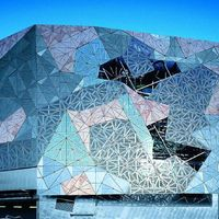 Federation Square in Melbourne, Australien