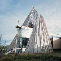 Parlamentsgebäude der Lappen in Karasjok, Norwegen