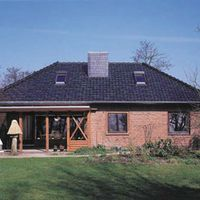 Tanngrünes Dach