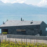 Schieferhaus mit geschlossener Fassadenverkleidung