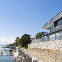 Schieferfarben am Genfer See -  Deckart der besonderen Art