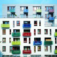 Wohngebäudekomplex in Prag, Tschechien