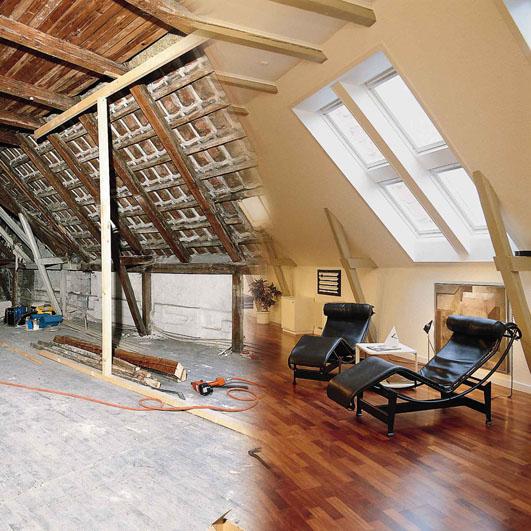 preiswerter zusatzwohnraum unter dem dach. Black Bedroom Furniture Sets. Home Design Ideas